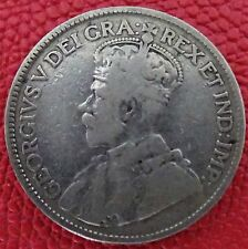 Canada-1918  Twenty five (25) cents silver coin  (King George V)
