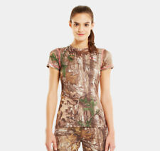 Under Armour Womens Size Large Scent Control Camouflage Short Sleeve Shirt NWT