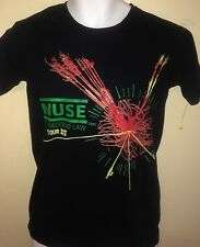 VINTAGE MUSE THE 2ND LAW TOUR 2013 UNISEX SMALL T-SHIRT ROCK INDIE OUT OF PRINT