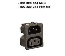 Kaltgeräte Einbaustecker & Kaltgerätebuchse IEC 320 C13 Female Plug Male Female