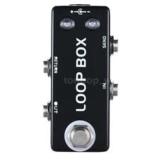Mini Guitar Effect Pedal Loop Box Switcher Channel Selection True Bypass A8W7