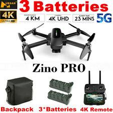 Hubsan ZINO PRO Drone 4.5KM 4K Camera Foldable Quadcopter 3 Gimbal+2Battery+Bag