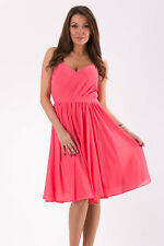 EVA&LOLA DRESS Watermelon vestido rosa talla S 36, size S