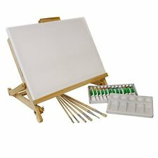 Art Supplies Table Easel Acrylic Painting Set Artist Brushes Plastic Palette New