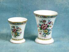 Ming Rose COALPORT Bone China RARE Spill/Trumpet Vases Posies Pots Trinkets