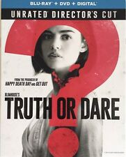TRUTH OR DARE(BLU-RAY+DVD+DIGITAL)W/SLIPCOVER NEW UNRATED DIRECTORS CUT