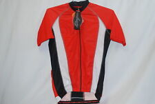 Hincapie SS Perfetto Cycling Jersey Men's Medium Road Bike White/Red/Black NEW