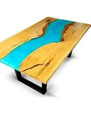 Live Edge Epoxy Resin Dinning Table Top 60x30 (inches) 35mm thickness (TOP ONLY)