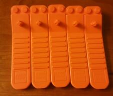Lot of 5 LEGO Brick Separators Removal Tools EUC Design Pin Disconnect Orange