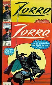 ZORRO COMIC BOOKS #1 and #2, NM+ 9.6, 1990, MARVEL COMICS!