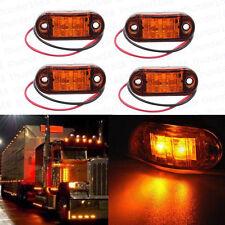 4x Amber Vehicle LED Side Marker Indicator Light Clearance Identification Lamps