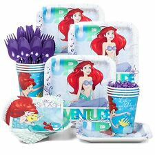 Kids Childrens Birthday Party Tableware Kit Little Mermaid Theme Plates Cups NEW