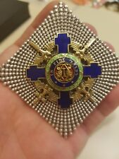 ROMANIA Royal SILVER Order STAR Grand CROSS Romanian MEDAL WW2 1942 GERMANY WAR