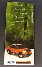 2001 Ford Truck Accessories Brochure Explorer Sport Trac Expedition Excursion 01