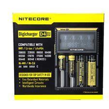 UK Nitecore D4 - 2018 Model - Intelligent 18650 26650 AA Vape Battery Charger