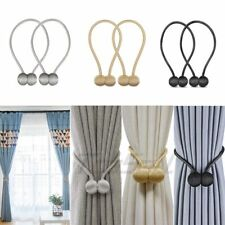 1 Pairs Magnetic Ball Curtain Tie Backs Buckle Holder Tieback Clips Home Window