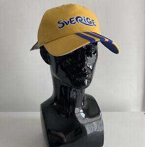 Retro Adidas Sverige Euro 2012 Sports Cap Yellow White Blue Embroider 1 Size New