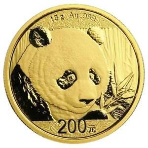 2018 CHINA Panda 10 Yuan 1g .999 Gold Coin