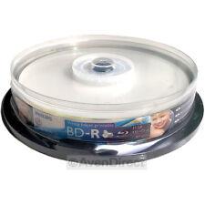 10 New Philips 4X Blu-ray BD-R White Inkjet Print 25GB 135 HDmin [FREE SHIPPING]