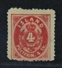 CKStamps: Iceland Stamps Collection Scott#6 Mint HR OG Lightly Crease