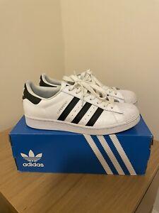 Adidas Superstar White Black UK Size 7
