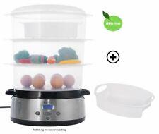 KeMar Kitchenware KFS-700 Dampfgarer | BPA-Frei | 9 Liter | 3 Dämpfkörbe DEMO