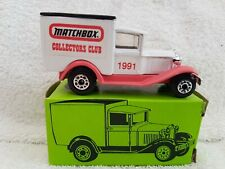 Matchbox MB38 Ford Model A 1991 Collectors Club Pink & White Ltd Ed