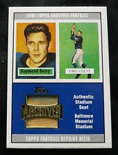 Raymond Berry - 2001 Topps Archives Authentic Stadium Seat - Card #94