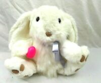 Santas Best Animated Stuffed Plush Easter Bunny Fluffy White Tested Works