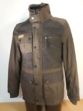 BNWT Mens FIRETRAP Wax Tweed Jacket Charcoal Khaki XS