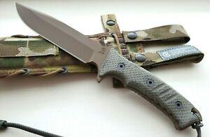 "Chris Reeve Knives The Pacific, 6"" FDE CPM-4V Blade, Canvas Micarta, Camo Sheath"