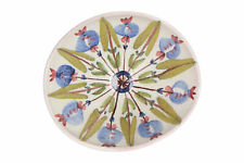 A Swedish art pottery bowl Hand painted Floral Mid Century