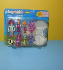 Playmobil 5884 Mermaid Seahorse Fish Clam Shell Lobster Coral 16 Piece Set