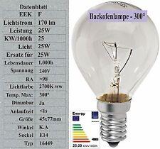 Sonderposten 25W Backofenlampe Tropfen 300° C Glühbirne Glühlampe E14 16449