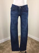 True Religion Billy Super T dark wash jeans 27 straight wishered