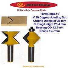 V Groove & Matched 90 Degree  TGV9038B-12  12.7 mm Shank  + Bonus Product