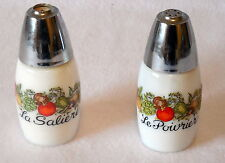 Corning Spice of Life Salt & Pepper shakers La Saliere Le Poivrier set