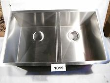 Undermount Stainless Steel Double Bowl kitchen sink Zero Radius  #1019