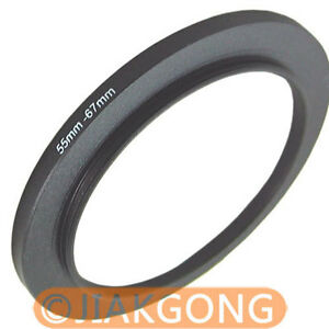 55mm-67mm 55-67 mm Step Up Filter Ring Stepping Adapter