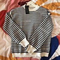 Tommy Hilfiger Striped Puff Sleeve Jumper Sixe XS BNWT RRP £120