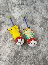 Pokemon Short Range Pikachu/Meowth Character Walkie Talkies Flexible Antenna