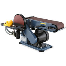 EBERTH 375W Belt and Disc Sander Woodwork Bench Sanding Tape Electric Linisher