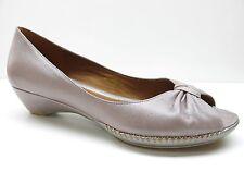Geox Respira Dusty Purple Leather Low Heel Platform Wedge Pumps Shoes 39 9M 9