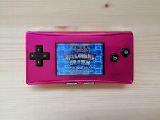 Console Nintendo Game Boy GameBoy Micro Rose Pink Testé + Jeu GBA Chuchu Rocket