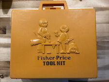 1977 Fisher Price Tool Kit 924 Kids Play Set Tool Box  Drill Working!