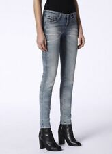 "DIESEL 24"" x 32 Gracey •NWT• Super Slim Skinny Low Rise Distressed Jeans Stretch"