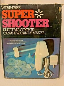 WEAR-EVER SUPER SHOOTER 70001 ELECTRIC COOKIE CANAPE COOKIE MAKER Tested