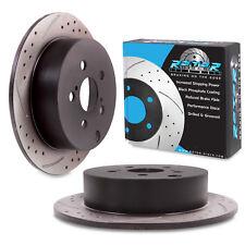 REAR GROOVED DRILLED 269mm BRAKE DISCS FOR TOYOTA CELICA 1.8 16V VTi PRIUS 1.5