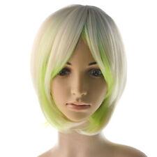 PROMARE Wig Mad Burnish Lio Fotia Wig Milk Yellow Gradient Green Wig Cosplay Wig