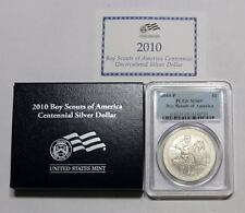 2010 P BOY SCOUTS OF AMERICA PROOF SILVER DOLLAR PCGS PR69DCAM 69 BY1 BOX COA